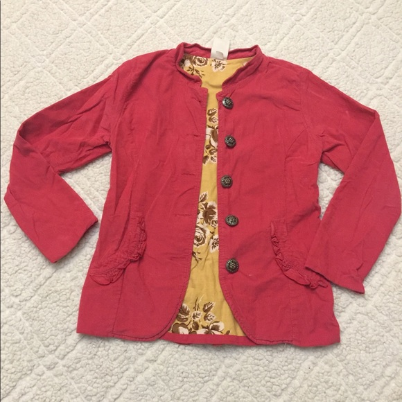 Persnickety Other - Persnickety Pink Corduroy Jacket